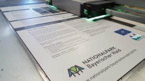 Firmenschilder Direktdruck vom Allesdrucker