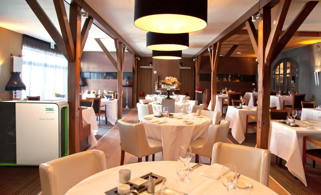 Luftreiniger in einem Restaurant