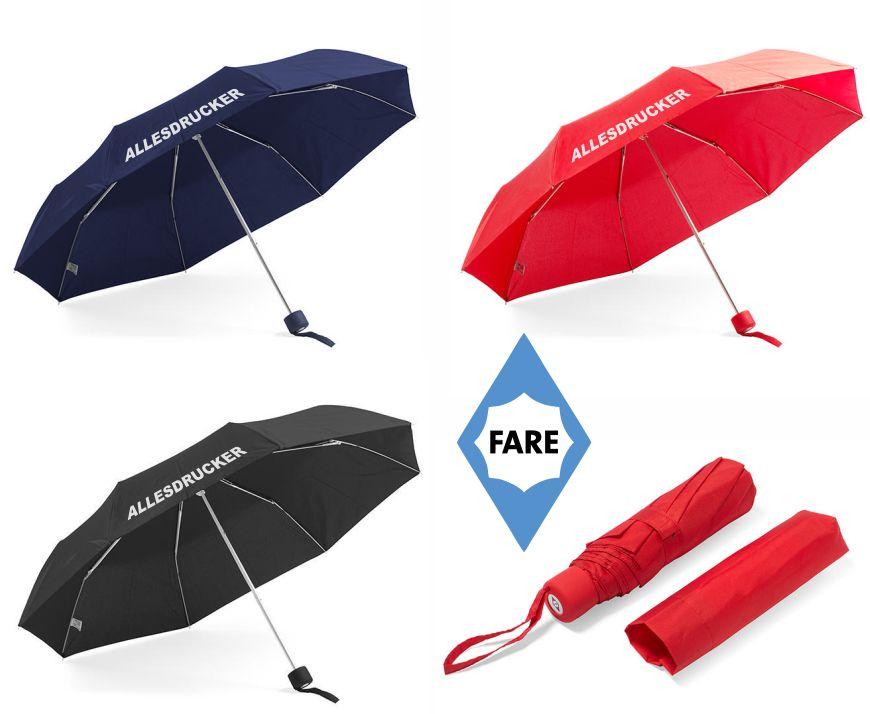 3 bedruckte Taschenregenschirme