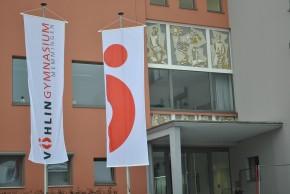 Beispiel einer Werbefahne/Bannerfahne
