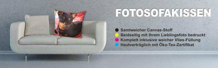 Fotokissen fürs Sofa