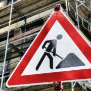 Bauschilder Warnschild